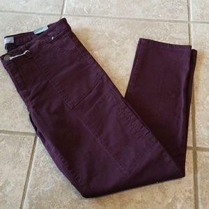 Wit and wisdom purple khaki size 8 NWT